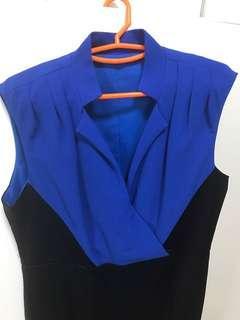 🚚 Blum Unique Blue and Black Dress