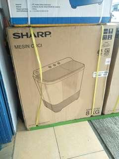 Sharp Mesin Cuci 8KG Kredit Promo DP 0%
