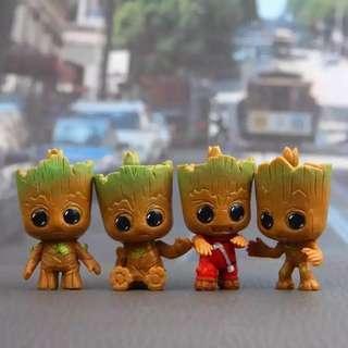 Marvel Avengers Baby Groot Mini Figure Cosbaby Pajangan Hiasan Meja Mobil