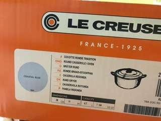 Creuset Signature Cast Iron Round Casserole, 28 cm - Coastal Blue