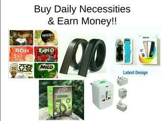 Buy Daily Necessities & Make Money!!