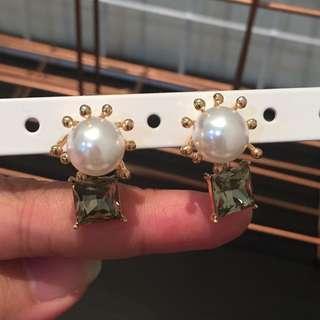 356 - Jewel Green Earrings