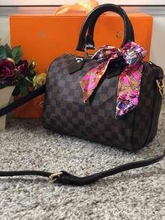 Louis Vuitton Speedy Damier Ebene Bandouliere 25