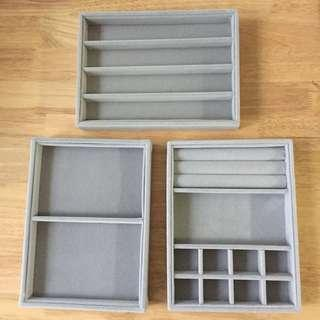 Jewelry storage trays 3 pcs