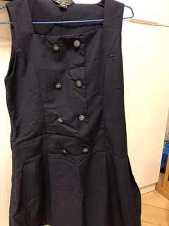 Work dress (navy blue)