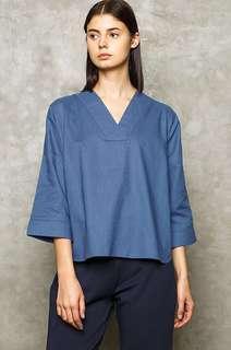 Cotton ink studio blue tarin shirt