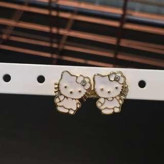 365 - White Hello Kitty Earrings