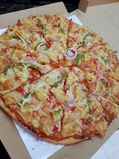 """12"""" Hawaiiian Pizza Homemade"""