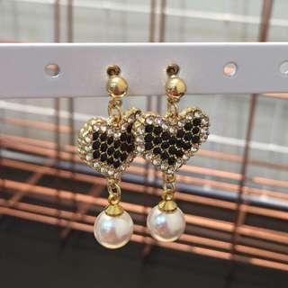 368 - Black Love Earrings