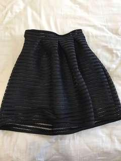 Z'Cloe Black Lacy Skirt