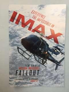 "Original ""Mission: Impossible"" IMAX movie poster"
