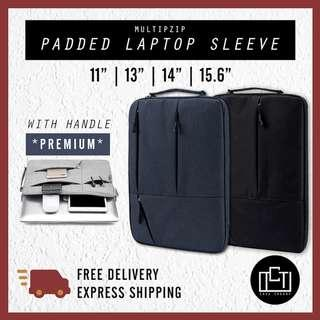 🚚 🔅cT🔅 MZIPH laptop cover with handle laptop sleeve casing baggage blue black FOR ALL BRANDS APPLE