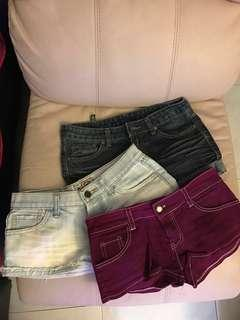 "Ladies shorts (hipster waist 25"")"