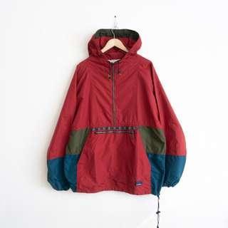 LL Bean vintage colorblock windbreaker jacket