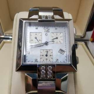 Concord La Scala 14H11371 Quartz Watch with Diamond and Mother of Pearl Dial