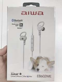 🚚 aiwa 藍芽耳機 白色