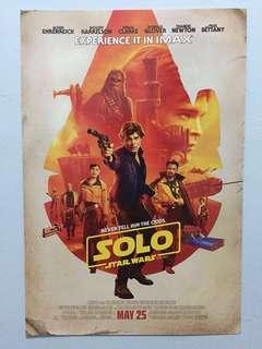 """Original """"Solo: A Star Wars Story"""" IMAX movie poster"""