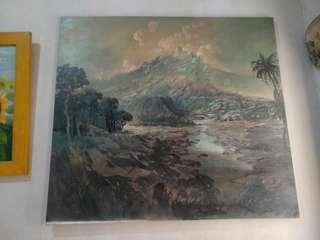 Lukisan panorama ukuran 86 x 79 cm