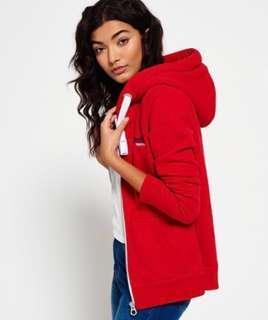 SuperDry Red hoodie
