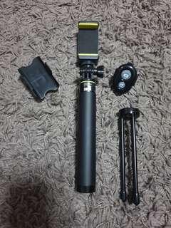 Monopod/Tripod for Handphone & GoPro