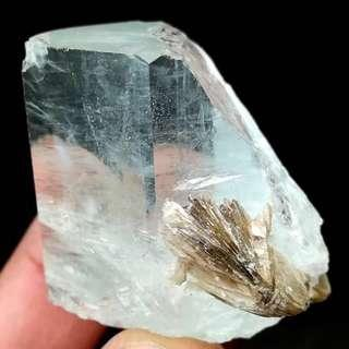 Price Reduced! 255 Ct! Beautiful Sky Blue Aquamarine With Mica