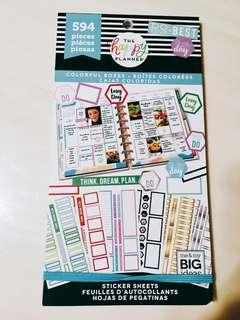 BN Happy Planner Colourful Boxes Sticker Book