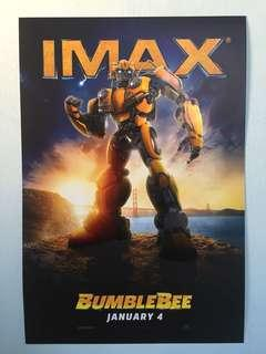 """Original """"Bumblebee"""" IMAX movie poster with collectible card"""