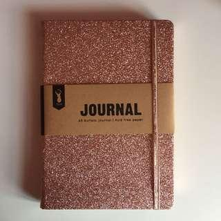 TYPO rose gold notebook