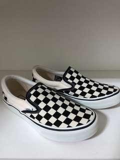 🚚 Vans silp 棋盤格 懶人鞋 23.5cm