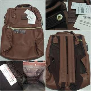 Anello PU Leather Backpack Mini,  Choco Brown