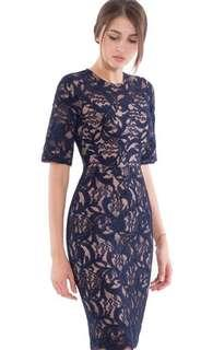 Doublewoot Navy Lace Dress