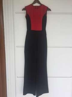 Long Jumpsuit black and red / jumpsuit hitam