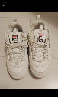 Fila  增高老爹鞋(白色基本款)