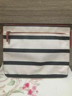Fossil ipad case navy stripe