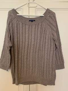 American Eagle brown knitted top