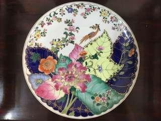 Famille Tobacco Leaves Plate