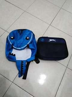 Cartoon backpack + meal pouch