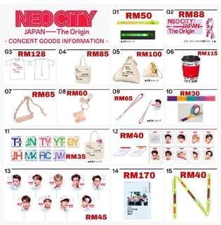 MY GO for 'NEO CITY: JAPAN - The Origin' Concert Goods 💚 NCT 127