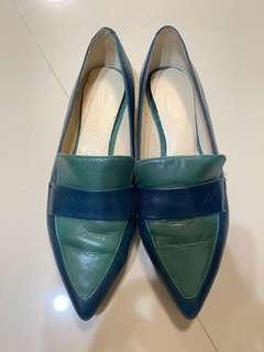 Nine West 真皮女鞋36.5綠