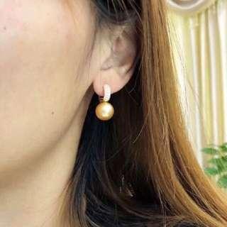 南洋金珠耳釘