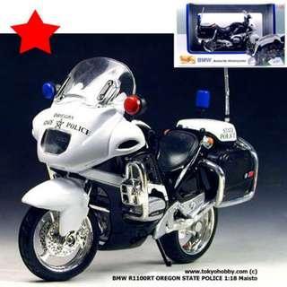 BMW R1100RT OREGON STATE POLICE POLIZEI 1:18 Maisto Diecast metal (approx length 11cm)