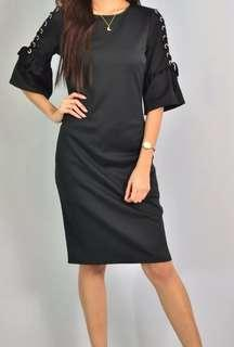 Dorothy Perkins black dress with grommets
