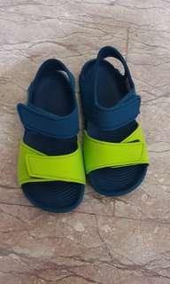 Adidas wet sandals used.