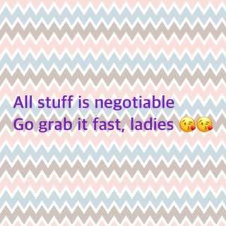 All stuff is negotiable