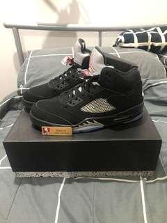 Jordan 5 'Black Metallic' SIZE 11