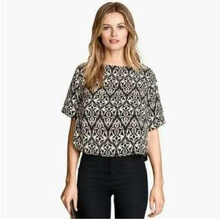 H&M Conscious Collection Printed Crop Top