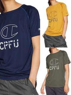 🚚 日本版 正品 Champion CPFU 限量 跑步 機能 排汗 短袖 軍事風 美軍 反光 復古 排汗衣 軍事 山女