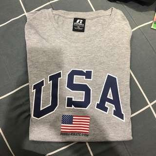 Russell Athletic USA Vintage Tee SIZE XL