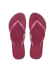 Havaianas Slim Women's Flip Flop (Berry)