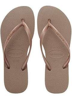 Havaianas Slim Women's Flip Flop (Rose Gold)